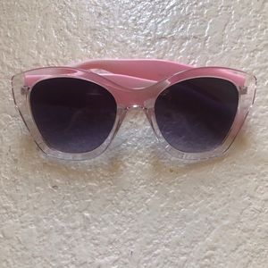 Accessories - Pink & clear wide sunglasses